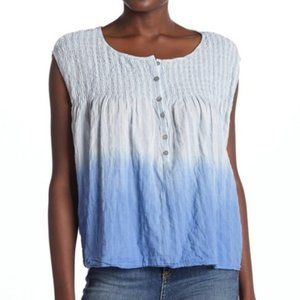 NWT Free People Chambray Ombre Sleeveless Blouse